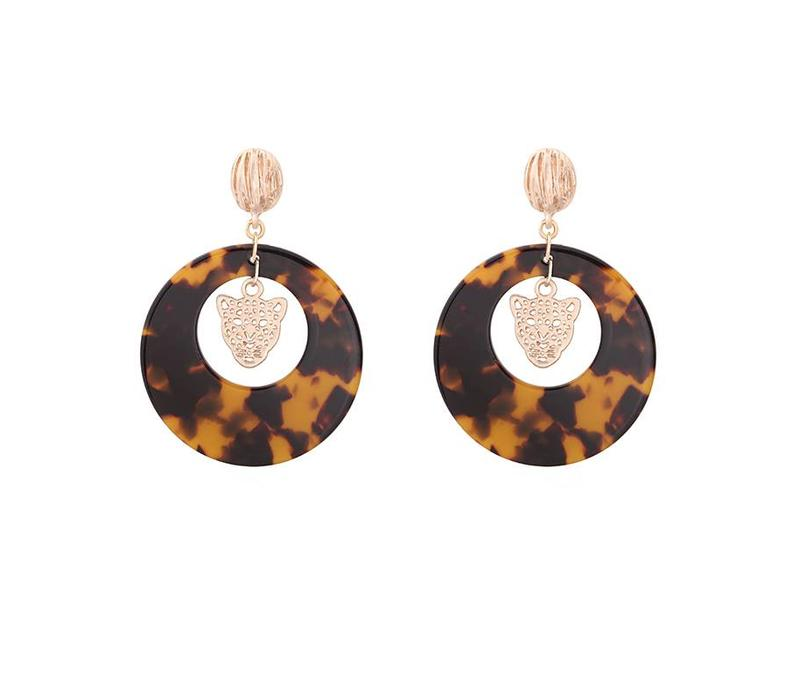 EARRINGS FOUND YOU TIGER BROWN