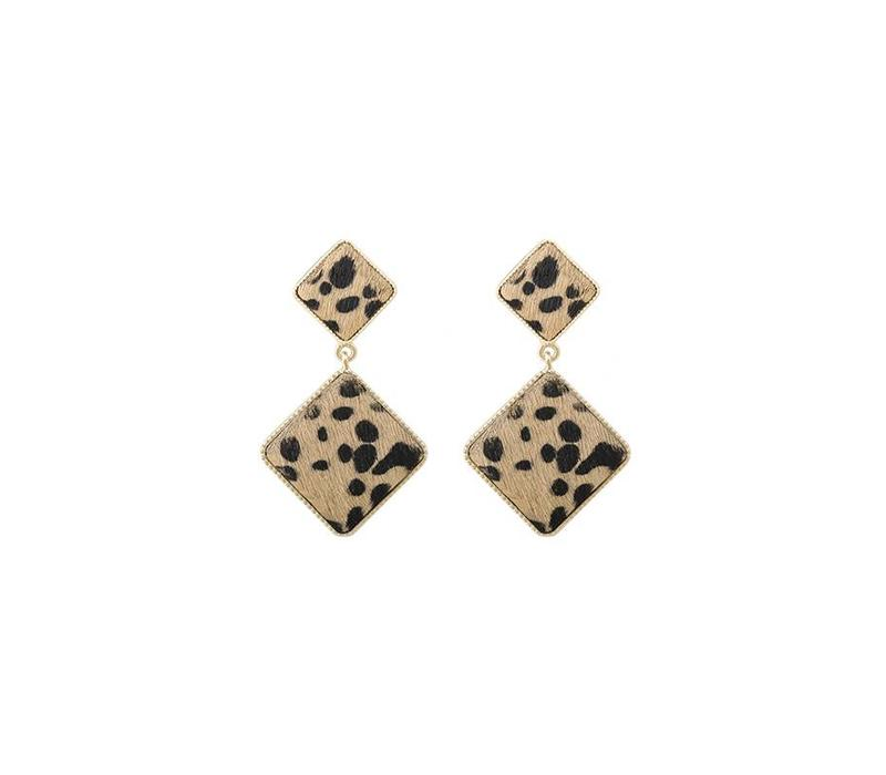 EARRINGS FUR MY LOVE- LIGHT BROWN
