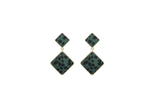 yehwang EARRINGS FUR MY LOVE - GREEN