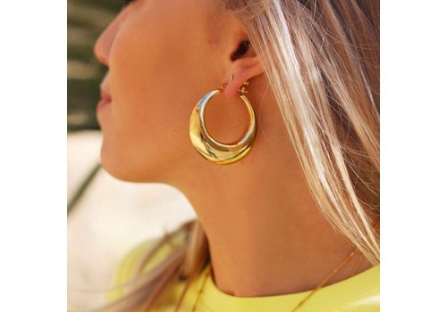 STATEMENT HOOPS GOLD