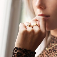 BIG CHAIN RING GOLD