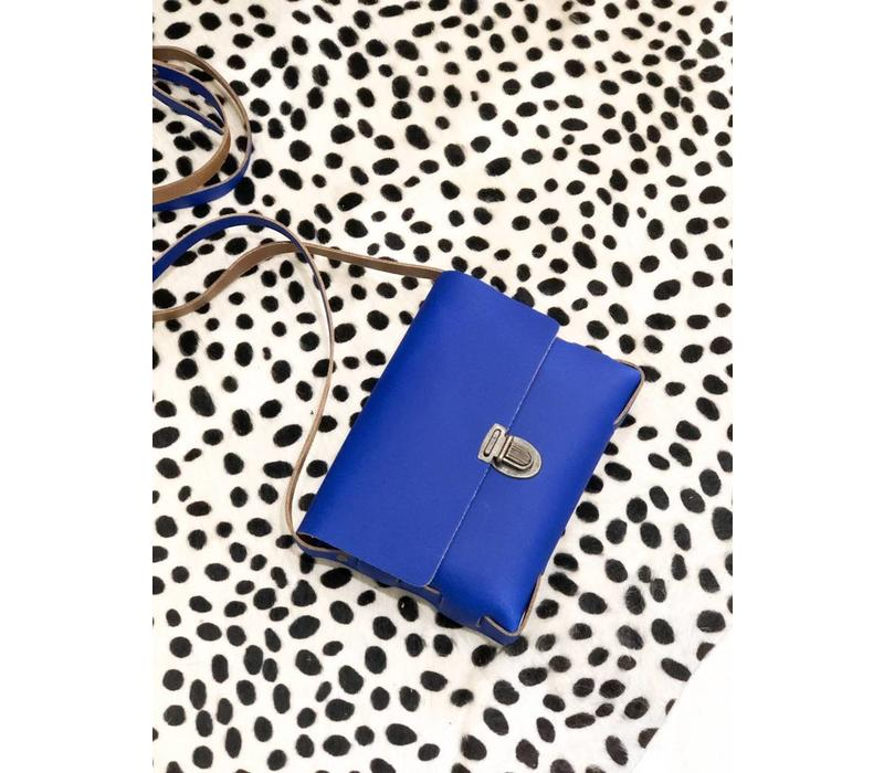 BLUE CROSSBODY LEATHER BAG