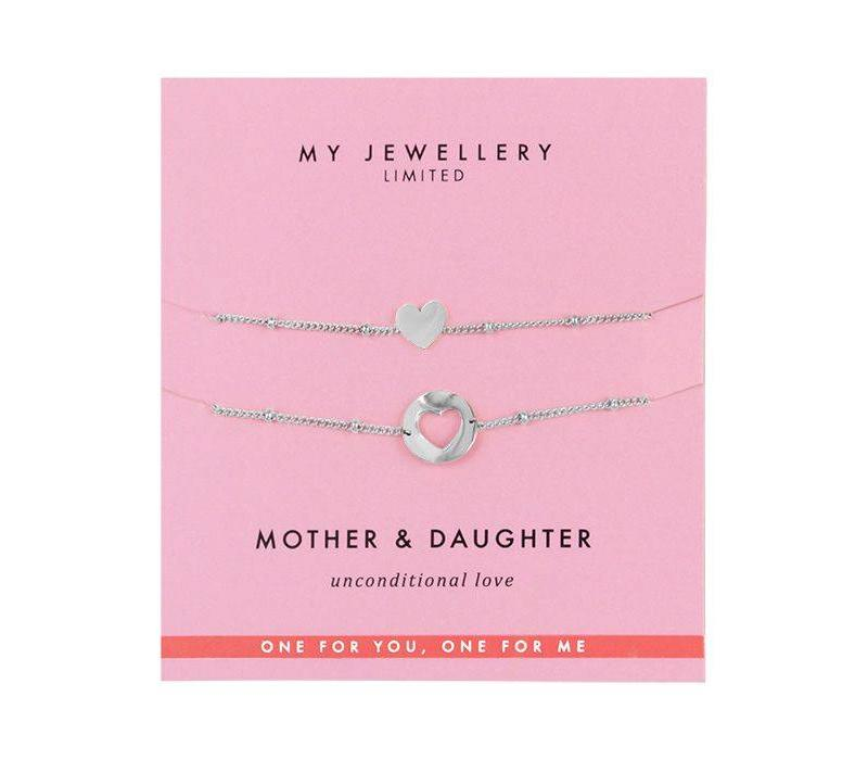 SILVER MOTHER DAUGHTER BRACELETS