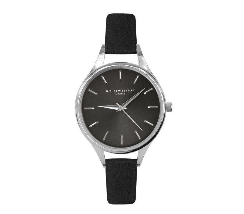 CLASSIC BLACK WATCH_WITH SILVER