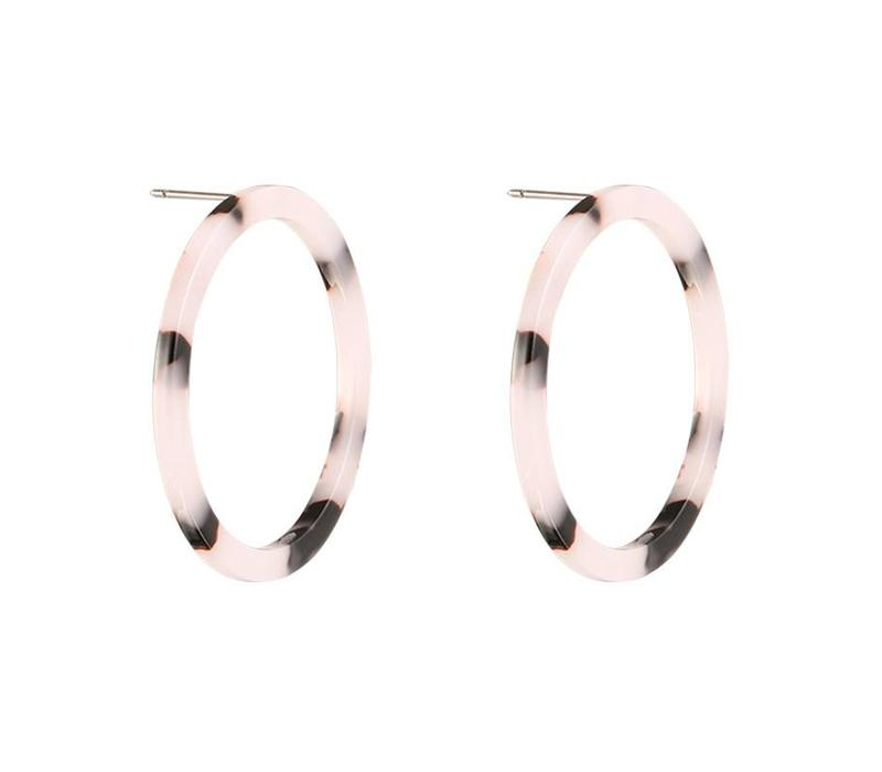 EARRINGS MELEE HOOPS 2.0 GREY