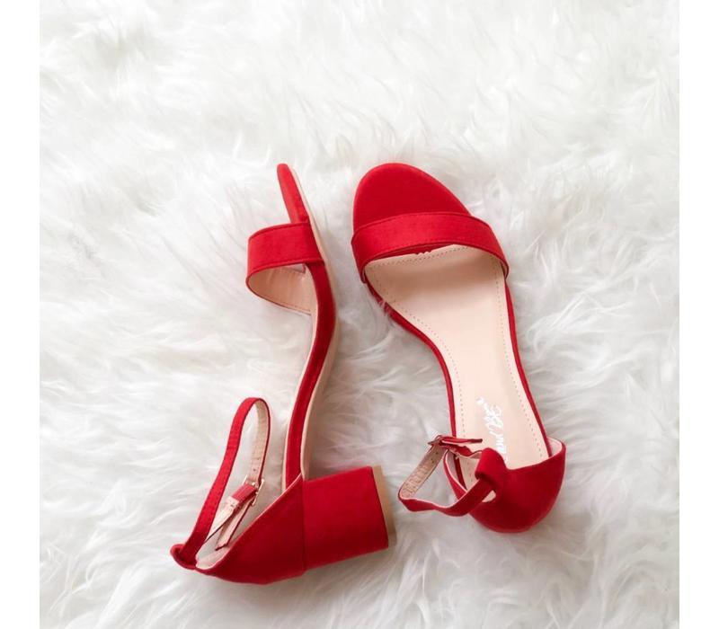 RED MADDIE SANDAL