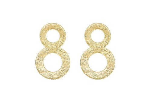 MY JEWELLERY DOUBLE CIRCLE STATEMENT EARRING