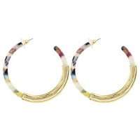 EARRINGS HOOPS MULTICOLOR