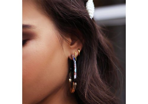 MY JEWELLERY EARRINGS HOOPS MULTICOLOR