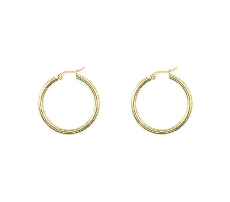 EARRINGS BASIC GOLD