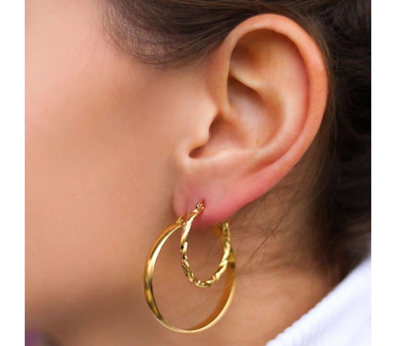 EARRING TURNING GOLD