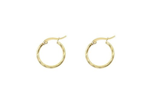 MY JEWELLERY EARRINGS STRIPE SMALL GOLD
