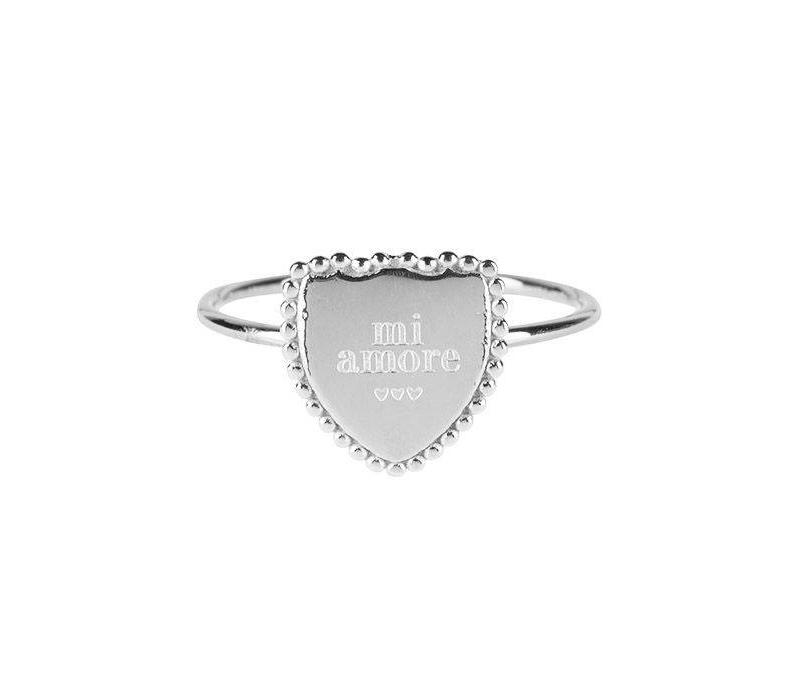 RING MI AMORE SILVER