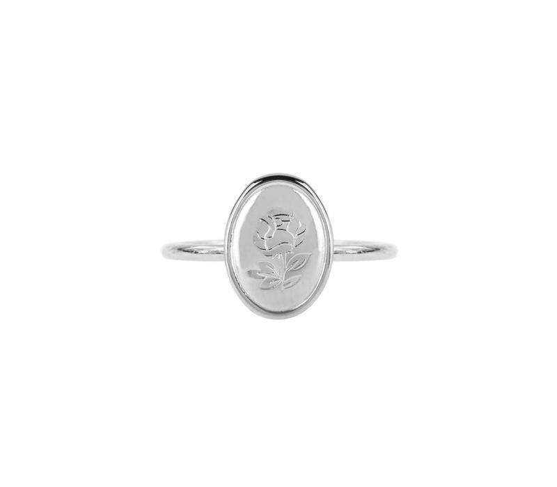 RING OVAL SILVER