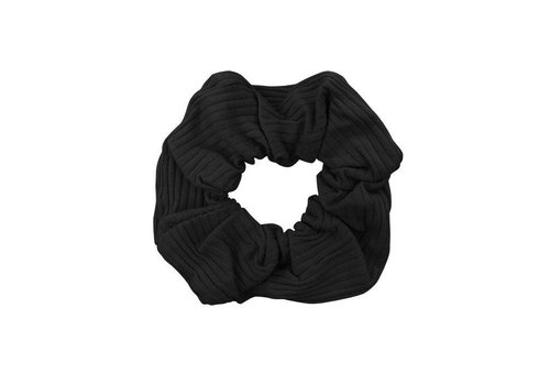 MY JEWELLERY SCRUNCHIE RIB BLACK
