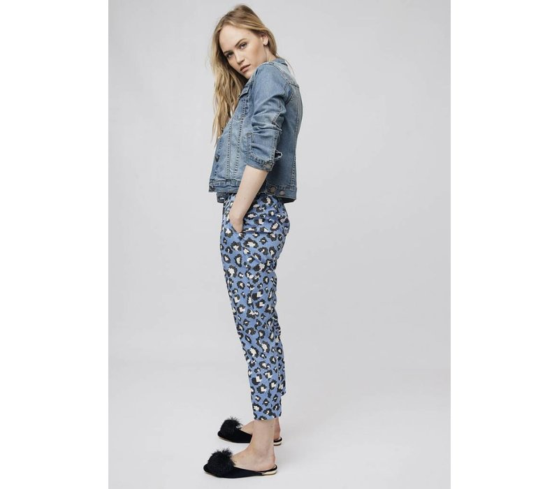 BLUE LEOPARD TROUSERS