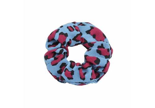 Scrunchie blue leo