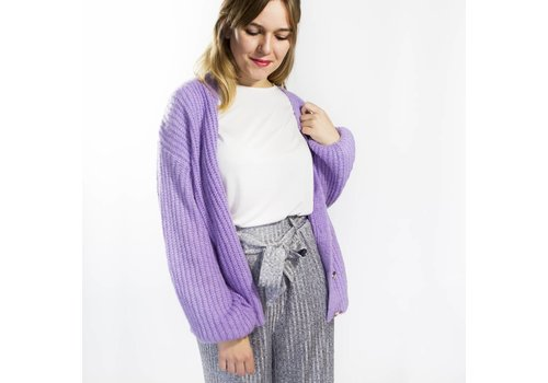 AMELIE PURPLE CARDIGAN
