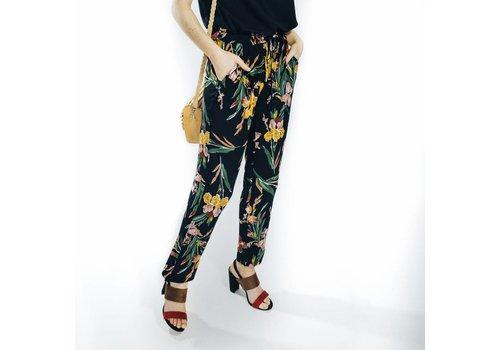 TESSA FLOWER PANTS BLACK