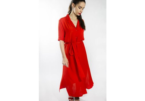 ICHI IHIDAHO RED DRESS