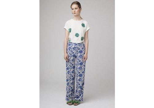 WILD PONY BLUE FLOWER PANTS