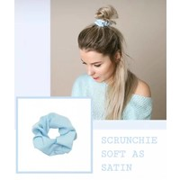 LIGHT BLUE SATIN SCRUNCHIE