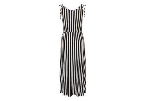 ICHI IHCLAYTON DRESS BLACK STRIPED
