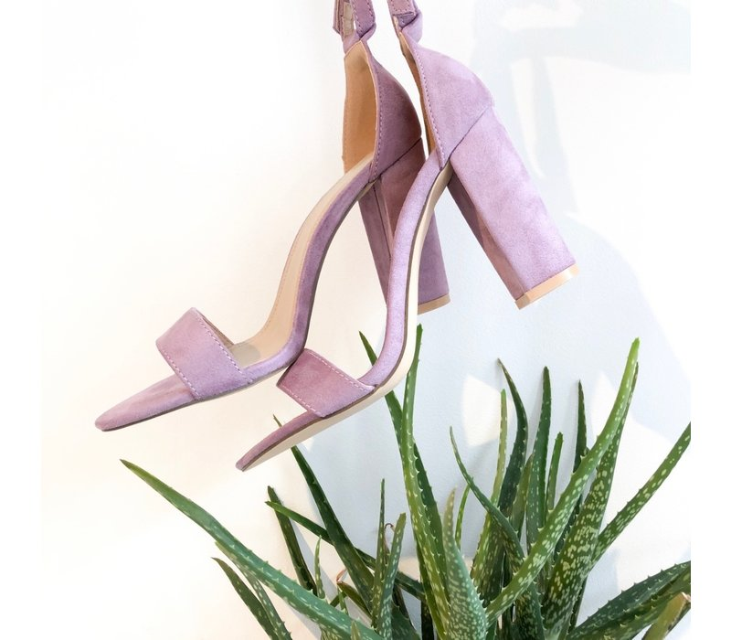PURPLE ANGIE HEELS