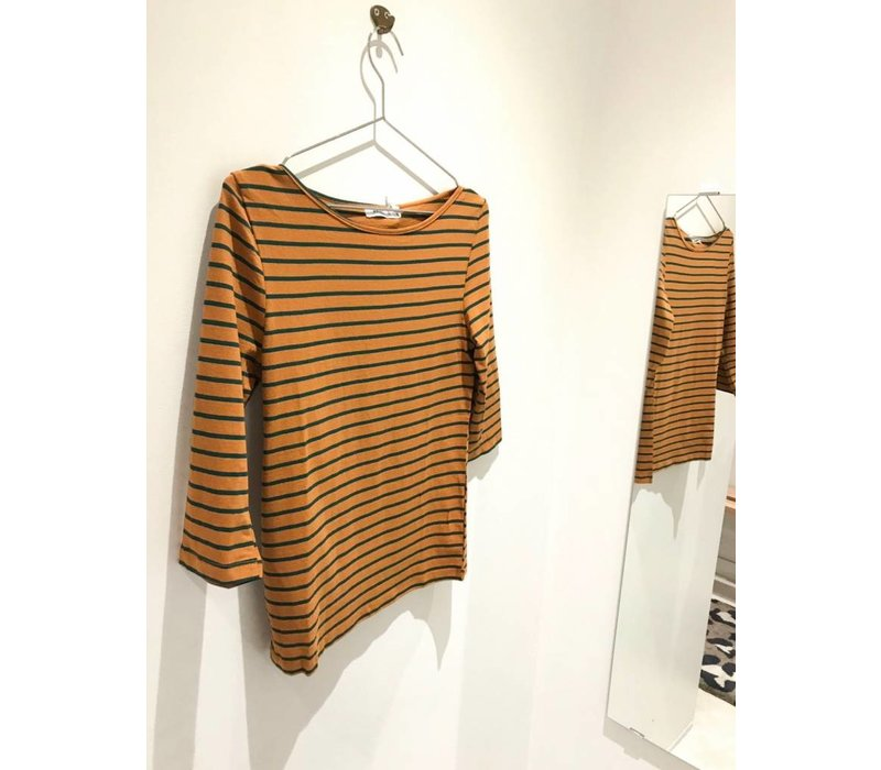 CAMEL STRIPED BLOUSE