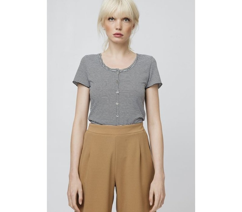 BUTTON UP TEE