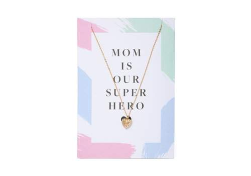 MOM IS OUR SUPER HERO GOLD