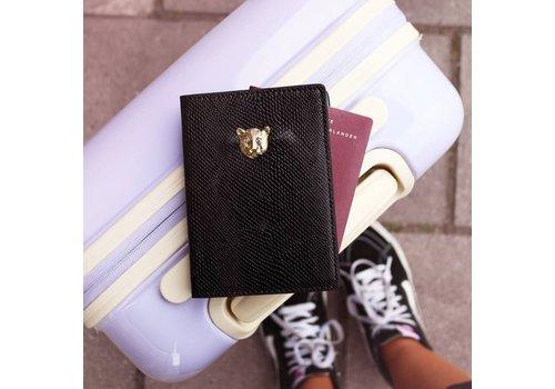 PASSPORT HOLDER BLACK LEO