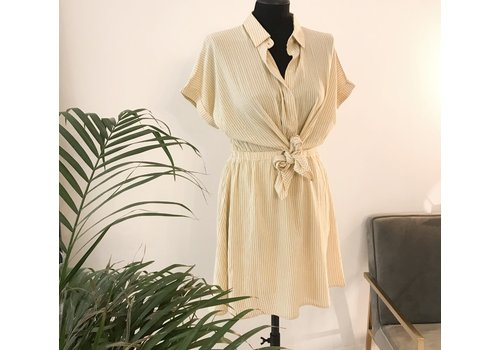 YELLOW STRIPE FRENCH DRESS