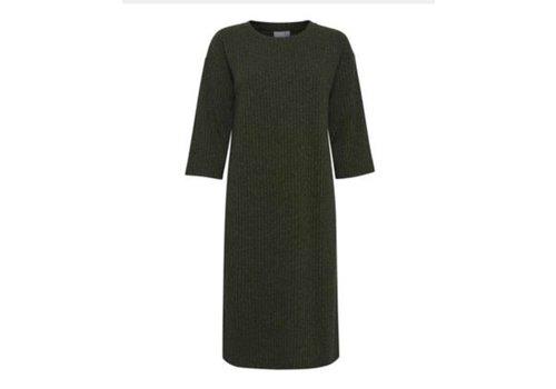 ICHI IHZOEY DRESS GREEN