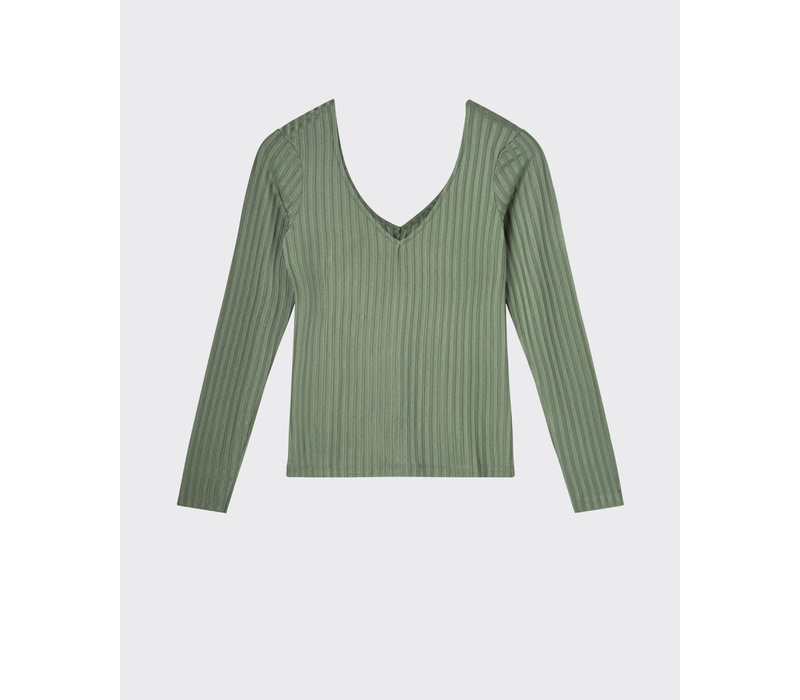 BALLIS GREEN VISCOSE BLOUSE