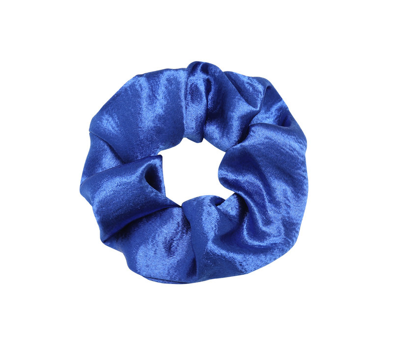 SATIN SCRUNCHIE ELECTRIC BLUE