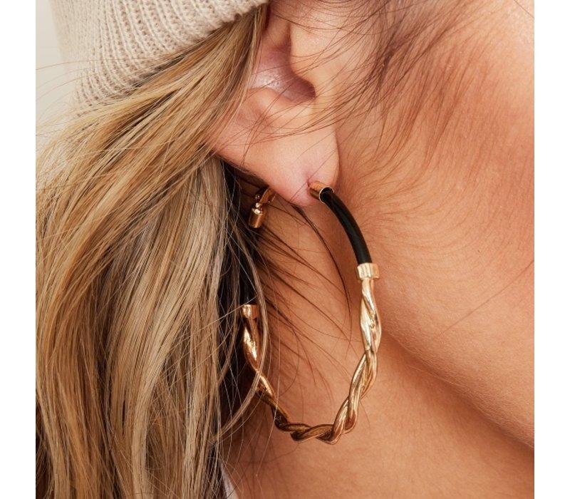 GOLD & BLACK EARRINGS