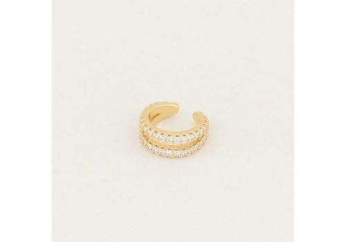EAR CUFF DOUBLE RING GOLD