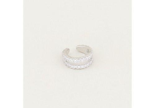 EAR CUFF DOUBLE RING SILVER