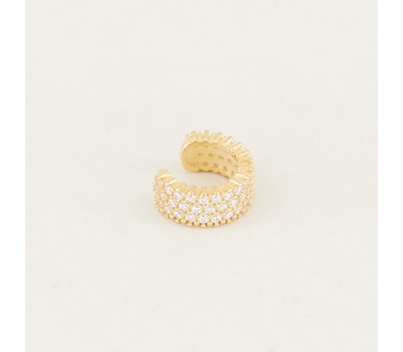 EARCUFF STRASS WHITE GOLD