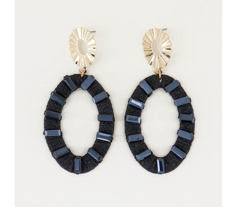 OVAAL EARRINGS BLACK