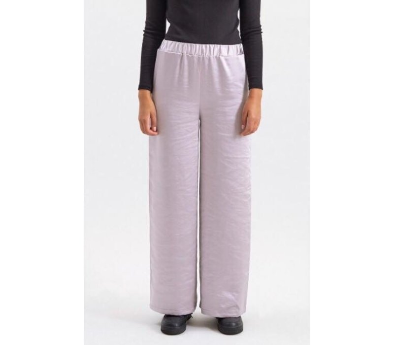 BELL TROUSERS SILVER SATIN
