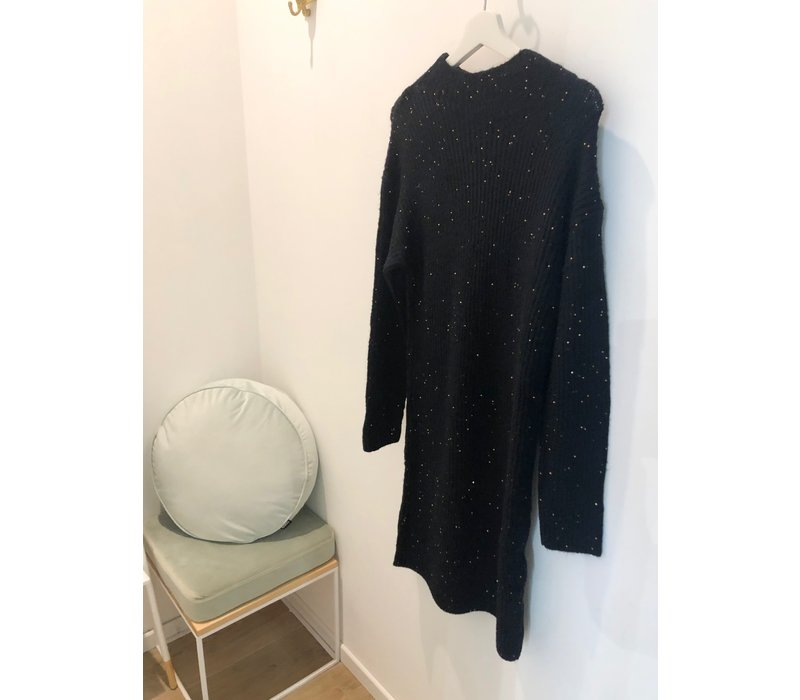 SWEATERDRESS BLACK - TOUCH OF SPARKLE - TU