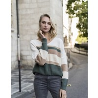 GREEN MULTICOLOR KNIT