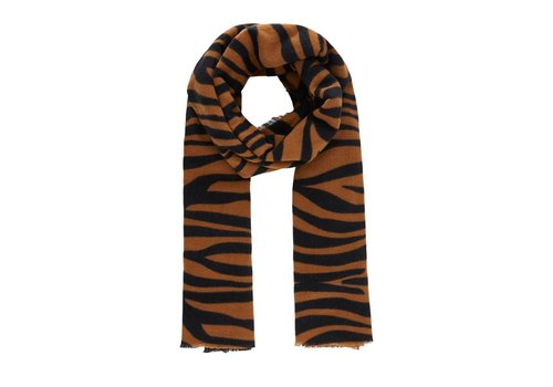 PCJEPOLINE SCARF BROWN