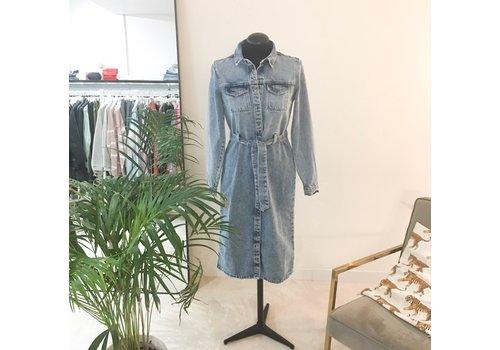 PCNAMIR DENIM SHIRT DRESS