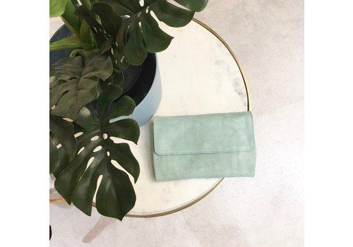 PCNILLA GREEN SUEDE BAG