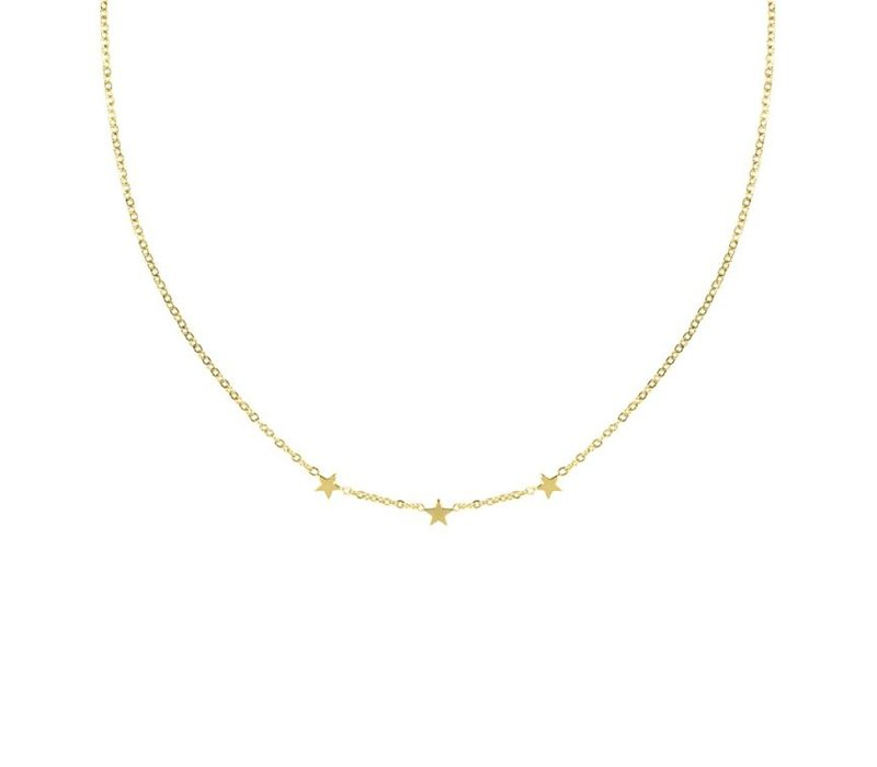 3 STARS NECKLACE GOLD