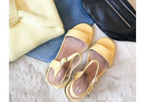 Vanessa WU YELLOW HEELED SANDALS