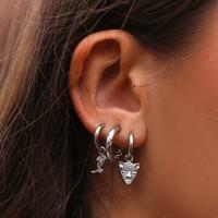 BEDEL LUIPAARD EARRINGS - SILVER